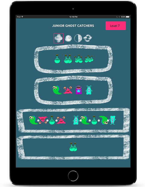 Junior Ghost Catchers Game displayed on a tablet