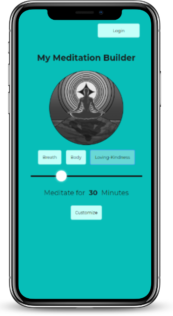 The My Meditation Builder App Displayed on a smartphone